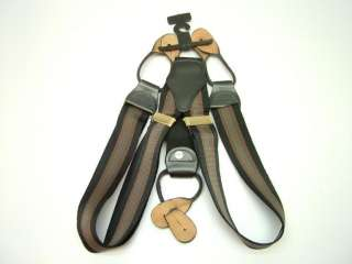 NEW BLACK RED STRIPE ADJUSTABLE BUTTON SUSPENDER BRACES