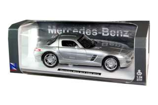 NEW RAY 2010 MERCEDES BENZ SLS AMG 1/24 DIE CAST SILVER