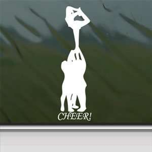 CHEERLEADING White Sticker Pyramid Car Vinyl Window Laptop White Decal