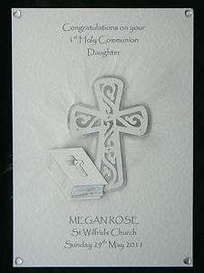 Personalised Holy Communion Confirmation Card Grand God Daughter Son