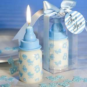 Blue Baby Bottle Candle Favors F9401 Quantity of 48