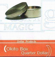 Okito Coin Box Brass Quarter Version Magic Trick
