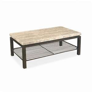 Bernhardt Tempo Rectangular Stone Top Cocktail Table