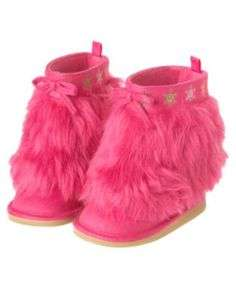 GYMBOREE CHERRY ALL THE WAY PINK SNOWFLAKE FUR BOOTS 5 9 NWT