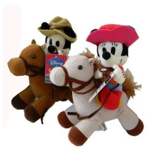 Cowboy Disney Mickey Minnie Plush Doll set (2 pcs Set) Toys & Games