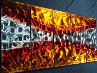 METAL PAINTING ABSTRACT WALL ART MODERN SCULPTURE LARGE