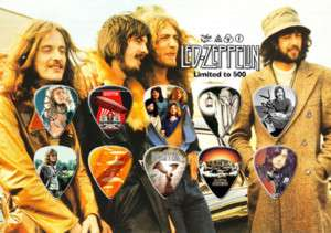 LED ZEPPELIN Guitar Pick Set Display LIMITED EDITION