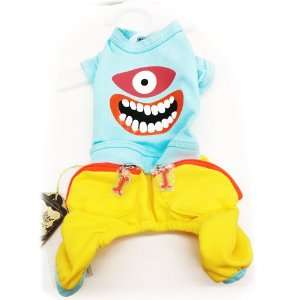 Pet Dog Clothing Cute One Piece Monster Style Shirt and