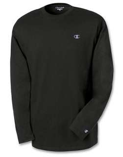 Champion Cotton Jersey Long Sleeve Mens T Shirt   style T2228
