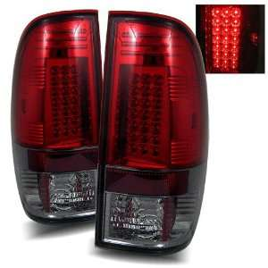 97 03 Ford F 150 Styleside Red/Smoke LED Tail Lights Automotive