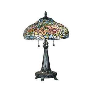 Dale Tiffany Peony Art Glass Table Lamp