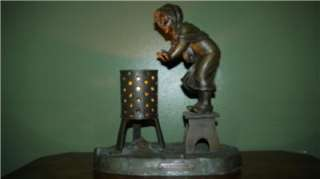 de RANIERI French Art Deco Spelter Table Lamp c1915