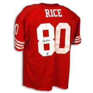 Autographed San Francisco 49ers Red Throwback Jersey