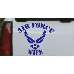 Blue 6in X 6.8in    Air Force Wife Military Car Window Wall Laptop