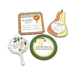 Paula Deen Fun Finds Assorted Ingredient Magnets Set of 4