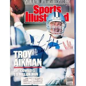 Troy Aikman signed autographed Sports Illustrated Dallas