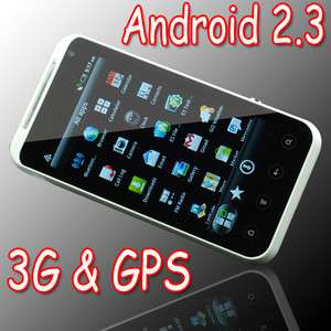 Inch Capacitive Touch Screen Dual sim Android 2.3 WIFI GPS 3G AT&T