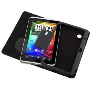 4in1 For HTC Flyer Tablet Leather Case+Film+Stylus+More