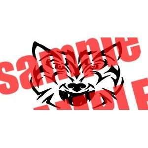 WOLF FACE TRIBAL WHITE VINYL DECAL STICKER Everything