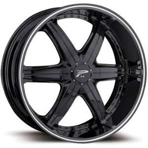 Platinum Flair 20x9 Black Wheel / Rim 6x135 & 6x5.5 with a 30mm Offset