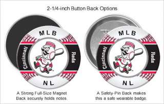Pinback Pin Badge, Refrigerator Fridge Magnet, MLB NL Baseball
