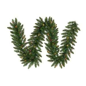 Fir Artificial Christmas Garland   Multi Color Lights