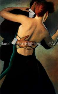 Hand Painted Portrait Oil Painting Canvas Tango Dancers