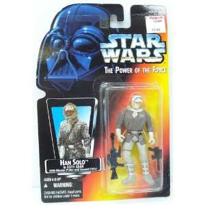 Star Wars 1995 POTF Red Card Han Solo Hoth Gear Carded