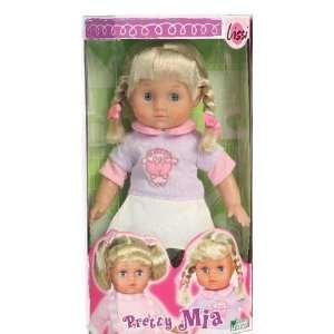 Pretty Mia Lissi Doll W/Pigtails Toys & Games