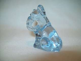 Vintage guernsey glass light BLUE Pencil Dog puppy animal pet