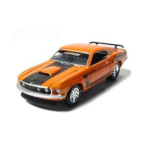 1969 Ford Mustang BOSS 429 Custom 1/64 Orange Toys