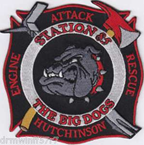 Hutchinson, PA Sta. 85 Big Dogs fire patch
