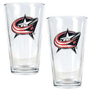 Columbus Blue Jackets NHL 2pc Pint Ale Glass Set   Primary