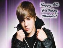 Justin Bieber #7 Edible CAKE Icing Image topper frosting birthday