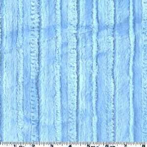 60 Wide Striped MInky Baby Blue Fabric By The Yard Arts