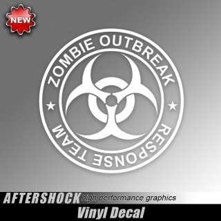 Zombie Outbreak response team circle sticker