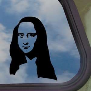 MONA LISA SILHOUETTE Black Decal Car Truck Window Sticker
