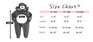 NEW Newborn&Baby Girl Boys Hooded Fleece Jumpsuit Onepiece Suit
