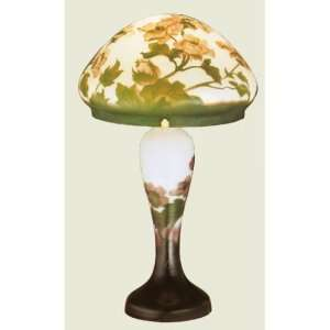 Meyda Tiffany 31035 Galle   Two Light Poppy Accent Lamp, Plum Green