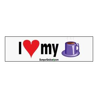 I Love Coffee   bumper stickers (Medium 10x2.8 in