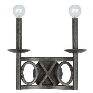 Odette Collection 2 Light 12 English Bronze Wrought Iron Wall Sconce