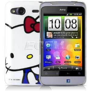 Ecell   WHITE HELLO KITTY HARD BACK CASE COVER FOR HTC
