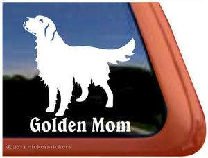 GOLDEN MOM ~ High Quality Vinyl Golden Retriever Dog Window Decal