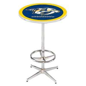 36 Nashville Predators Counter Height Pub Table   Chrome