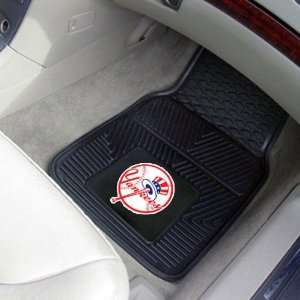 New York Yankees Black 2 Piece Vinyl Car Mat Set Sports