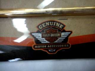 HARLEY DAVIDSON MOTORCYCLE CHROME LICENSE PLATE FRAME w/ORIG PKG