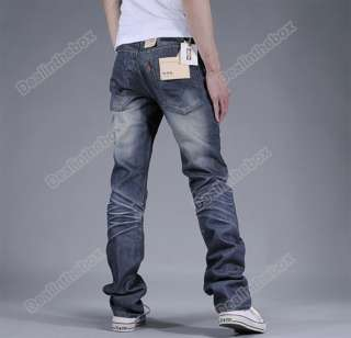 Fashion Mens Slim Fit Korean Classic Pants Straight Washing Jeans