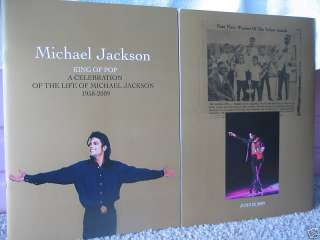 100% AUTHENTIC Michael Jackson Memorial Program BUY now