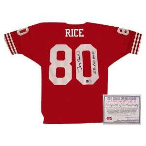 Autographed Red Jersey with SB XXIII Inscription