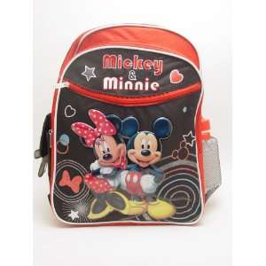 Walt Disney Mickey and Minnie Large Backpack with Mickey